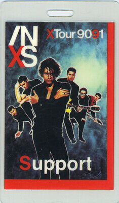 INXS 1990-91 X TOUR LAMINATED BACKSTAGE PASS Support • 31.75£