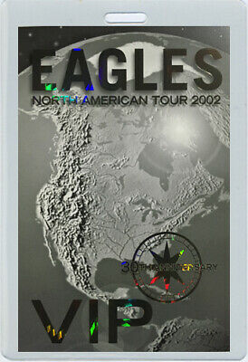 THE EAGLES 2002 30th Anniversary Laminated Backstage Pass • 31.25£