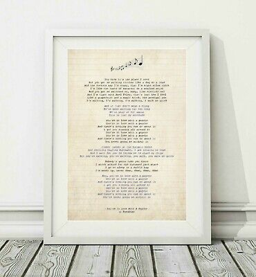 466 Kasabian - You're In Love With A Psycho - Song Lyric Poster Print - A4 A3 • 6.95£