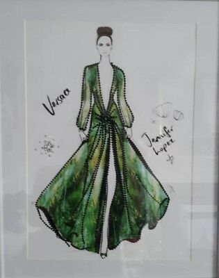 Valentine Price - Versace,Goddess Dress- Hand Beaded Picture - A3 Picture Only • 12£