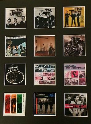 """The Jam Paul Weller LP Discography Picture 14"""" X 11"""" Free Postage • 14.99£"""