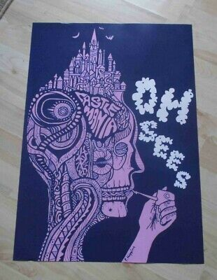 OH SEES Poster A2 Smokin' Skull Head • 7.99£