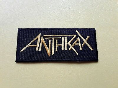 Anthrax Patch Embroidered Iron On Or Sew On Badge • 3£