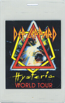 Def Leppard 1988 Hysteria Tour Laminated Backstage Pass • 31.48£
