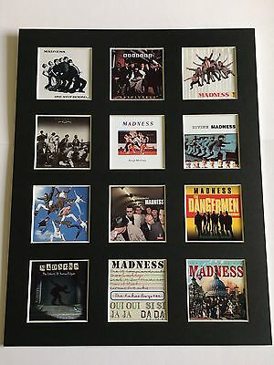 """Madness Discography Picture 14"""" By 11"""" Ska Mod Free Postage • 14.99£"""