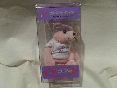 Britney Spears Bear Rare #1-pink-limited Edition #10092 Of 25,000 1999 • 35.76£