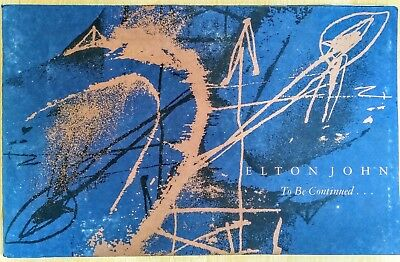 Elton John To Be Continued 40 Page Booklet Fully Illustrated With Lyrics 1990  • 24.95£