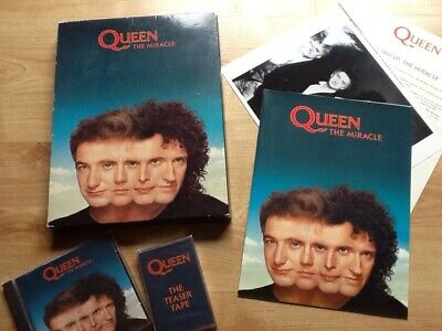 QUEEN -The Miracle Rare UK Promo Box Set With Sampler Tape, CD, Booklet.. • 320£