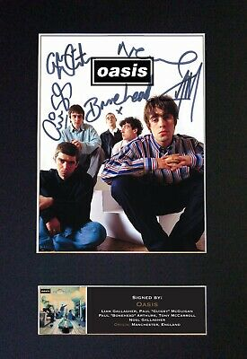 Oasis - *RARE* Reproduction Signed / Autographed Photograph - Museum Grade #491  • 19.99£