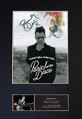 #445 BRENDAN URIE Reproduction Signature/Autograph Mounted Signed Photograph A4 • 19.99£