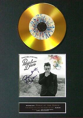 #127 Panic! At The Disco GOLD CD Signed Reproduction Autograph Mounted • 22.99£