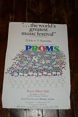BBC Proms 1984 Royal Albert Hall Classical Music Concert Poster, Holst, Berlioz • 19£