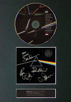 #60 PINK FLOYD Dark Side Of The Moon CD Signed Reproduction Autograph Mounted A4 • 21.99£