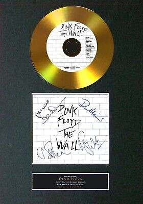 #115 PINK FLOYD The Wall GOLD CD Signed Reproduction Autograph Mounted A4 • 22.99£