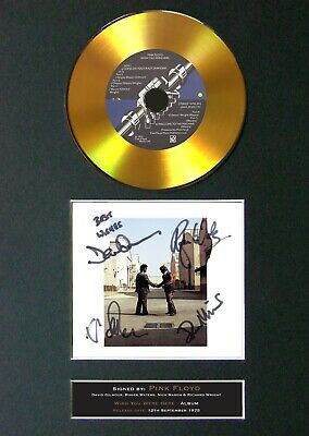 #151 PINK FLOYD Wish You Were Here GOLD CD Signed Reproduction Autograph Mounted • 22.99£