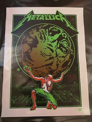 Metallica Atlas Rise East Rutherford Poster Limited Edition Ames Bros • 55£