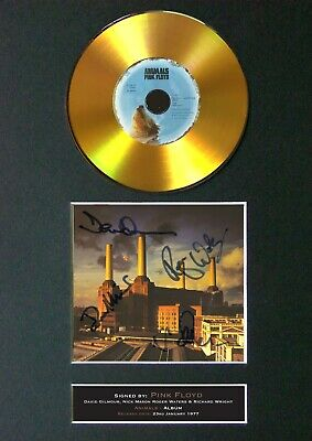 #184 PINK FLOYD Animals GOLD CD Signed Reproduction Autograph Mounted A4 • 22.99£