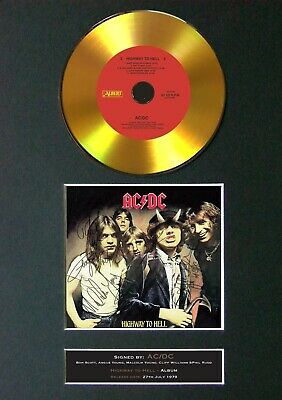 #150 ACDC Highway To Hell GOLD CD Signed Reproduction Autograph Mounted A4 • 22.99£