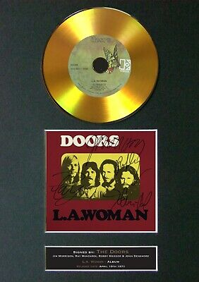 #145 THE DOORS LA Woman GOLD CD Reproduction Signed Autograph Mounted A4 • 22.99£
