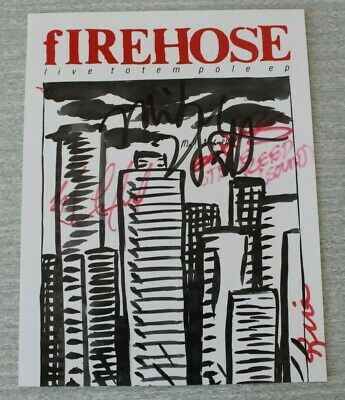 FIREHOSE Autographed Promo Flyer For Live Totem Pole EP 1992 Mike Watt • 25£