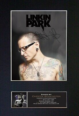#711 CHESTER BENNINGTON Reproduction Autograph Mounted Signed Photograph A4 • 19.99£