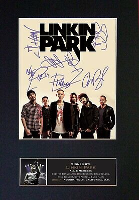 #705 LINKIN PARK Reproduction Signature/Autograph Mounted Signed Photograph A4 • 19.99£