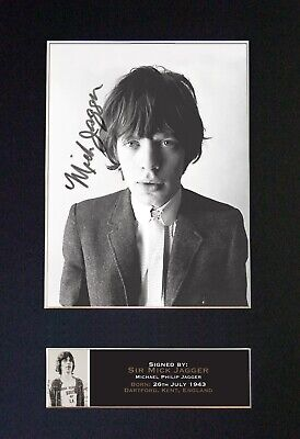 #644 MICK JAGGER Reproduction Signature / Autograph Mounted Signed Photograph A4 • 19.99£