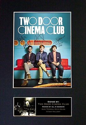 #281 TWO DOOR CINEMA CLUB Reproduction Autograph Mounted Signed Photograph A4 • 19.99£