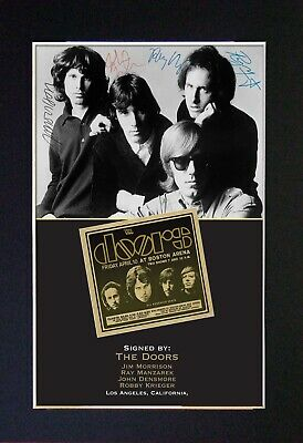 #204 THE DOORS No1 Reproduction Signature/Autograph Mounted Signed Photograph A4 • 19.99£