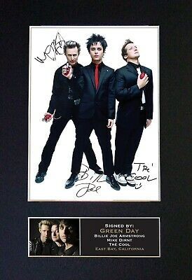 #196 GREEN DAY No1 Reproduction Signature/Autograph Mounted Signed Photograph A4 • 19.99£