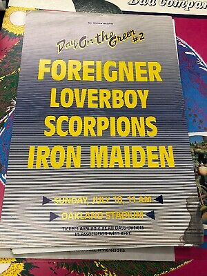 Iron Maiden Scorpions Foreigner 1986 DAY ON THE GREEN #2 POSTER Bill Graham • 119.72£