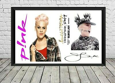 Pink Signed Autographed Photo Print Poster Memorabilia Alexis Beth Moore • 6.49£