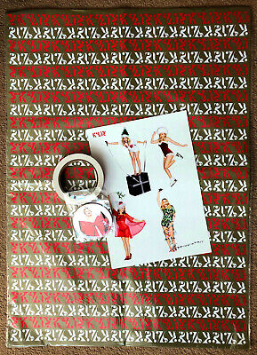 Kylie Minogue * A Kylie Christmas Official Wrap, Tape, Tags & Stickers * Htf! • 75£