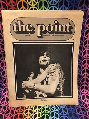 Aerosmiths First Newspaper Article The Point Rhode Island Paper April 1973 • 342.41£