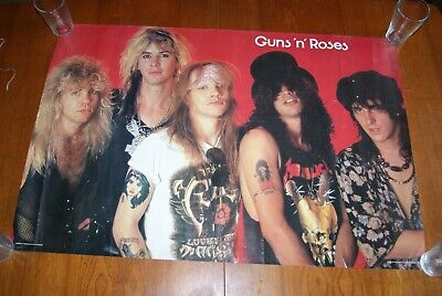Vintage 1988 Guns N Roses Poster - Minerva - Holmes McDougal Ltd Of Scotland • 21.99£