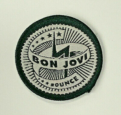 Bon Jovi Bounce Logo Fabric Embroidered Concert Patch 2 1/8  Blue And White • 11.91£