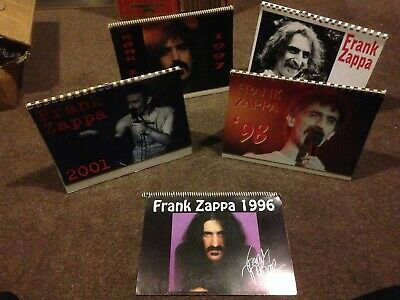Frank Zappa 1996 1997 1998 2001 2002 Vintage Ltd Edition Stand Up Calenders Rare • 16.50£