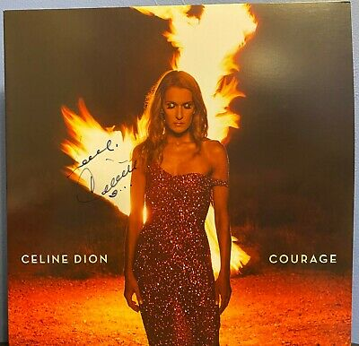 Celine Dion Signed Courage 12  Lp Album RED VINYL • 239.44£