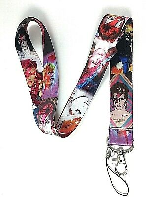 David Bowie Lanyard ID Holder Tag Neck Strap Ziggy Stardust Glamrock Music Fan • 3.99£