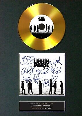 #189 LINKIN PARK Midnight GOLD Cd Signed Reproduction Autograph Mounted Repro A4 • 22.99£