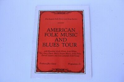 American Folk Music & Blues Tour 1965 UK Programme Ramblin' Jack Elliot • 45£