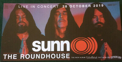 Sunn O))) London Show Card Flyer - (drone, Doom, Artrock, Noise, Southern Lord) • 3£