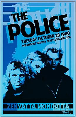 The Police 1980 Tour Poster  • 19.54£