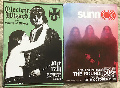 Electric Wizard / Sunn 0))) Flyer - Doom, Drone, Stoner, Southern Lord, Metal • 2.50£