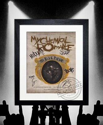 My Chemical Romance Signed Autograph Photo Print Framed • 22.99£