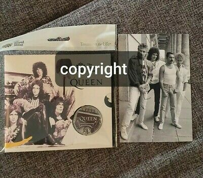 Royal Mint Queen Music Coin & Rare Photo Direct From Negative.freddie Mercury  • 20£