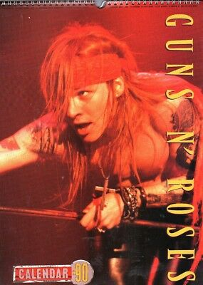 Guns N' Roses 1990 Vintage Calendar, Dates Match 2018    Axl Rose,  Slash • 14.99£