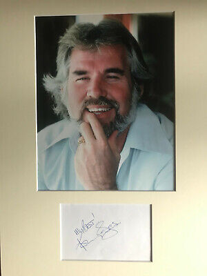 Kenny Rogers Autograph - Signed Card & 10x8 Photo - AFTAL • 45£