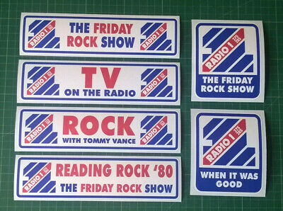 Large Classic 1980s Friday Rock Show Bumper Stickers - Weatherproof • 3.49£