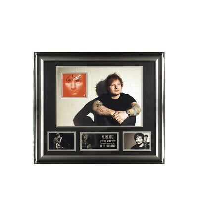 ED SHEERAN SIGNED CD COVER NICELY FRAMED & Mounted VERY RARE ITEM £499 • 499£